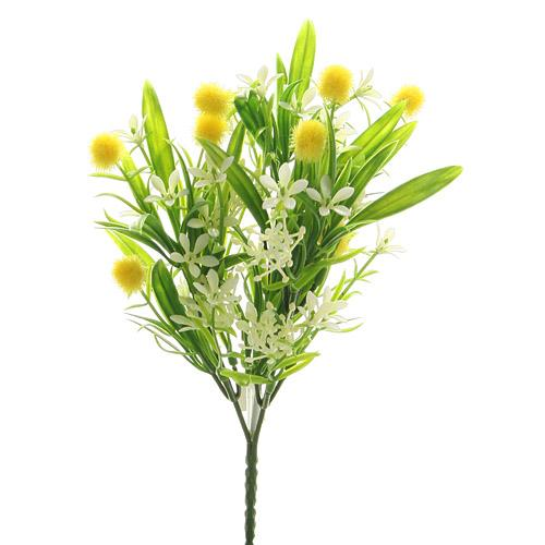 Artificial Flowers - Yellow pompom