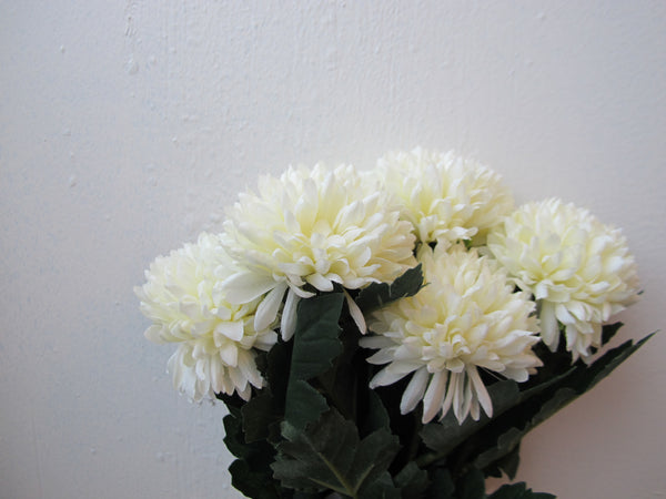 Artificial Flowers - Twig Pompom white (#FD 5373 #001 white)