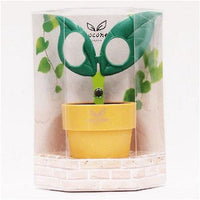COCONE Japan Flower Scissors with Stationery Stand and Tray - Green