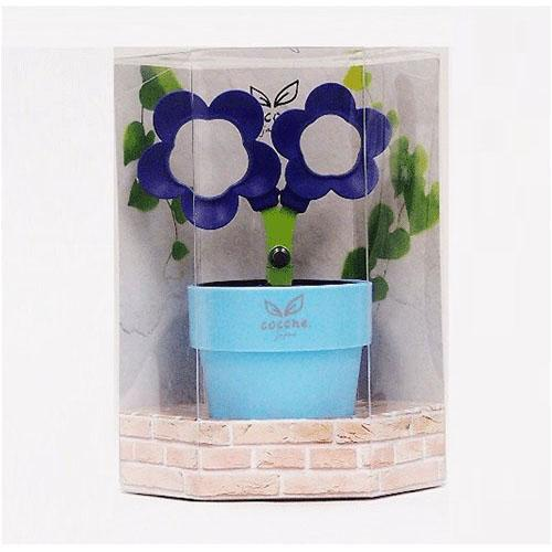 COCONE Japan Flower Scissors with Stationery Stand and Tray - Purple