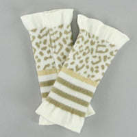 French made handwarmer - White leopard