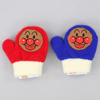 Toddler gloves Anpanman whistle - Red