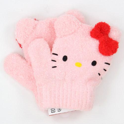 Toddler gloves Kitty mittens - Pink