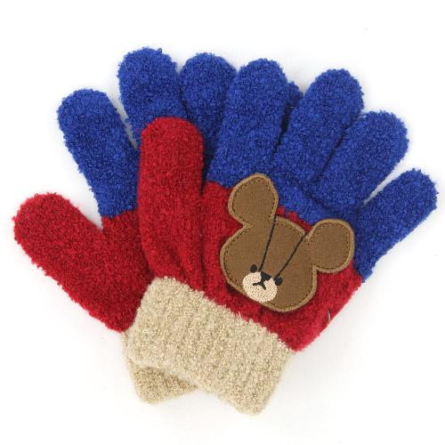 Toddler gloves - Wine bear