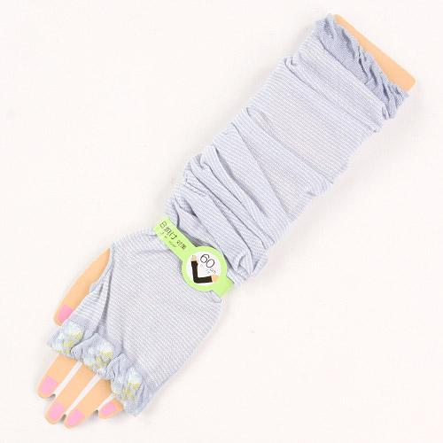 Arm Cover Border Floral Pattern- Grey 827817