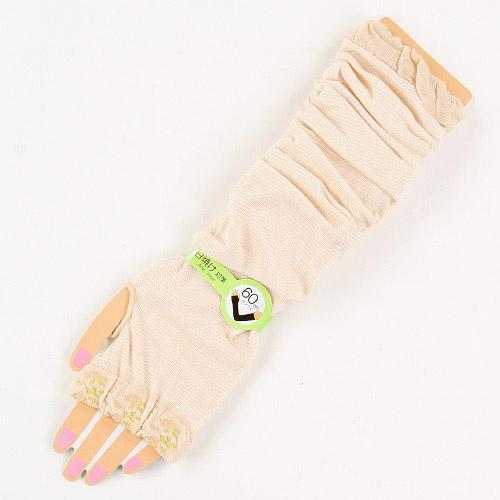 Arm Cover Border Floral Pattern- Beige 827817
