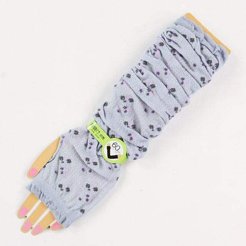 Arm Cover with Small Flower - Grey 827820