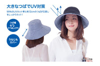 Sun Family UV CUT Series Foldable Reversible Hat - Navy x Beige