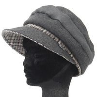 Back collar back plaid casket - Grey