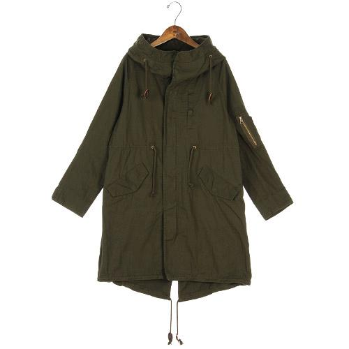 Coat with Hood - Moss Green