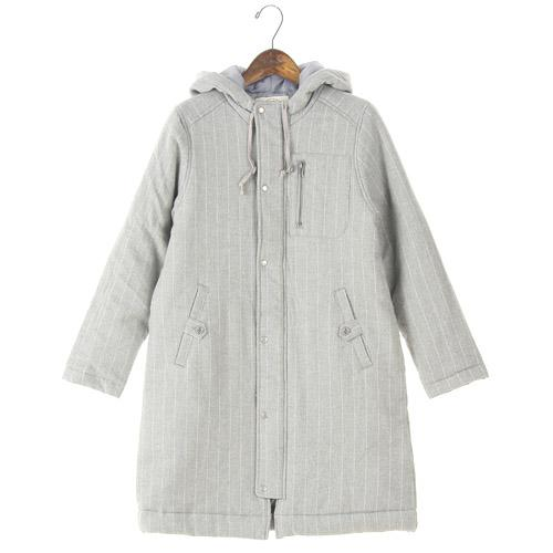 NORTHERN TRUCK coat with hood - L Grey Stripe