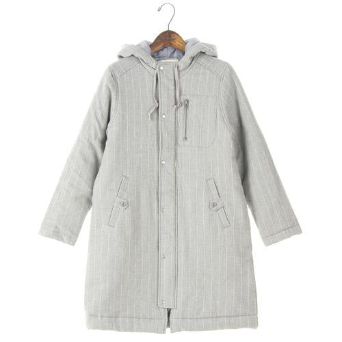 NORTHERN TRUCK coat with hood - M Grey Stripe