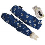 Miffy wind-resistant bone type flower folding umbrella - blue