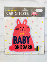 BABY ON BOARD Car Sticker - Rabbit KN-37434