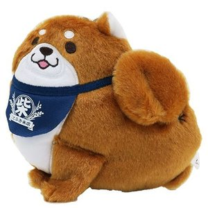 Chuken Mochi Shiba Card Holder with Retractable Chain 13269 Brown