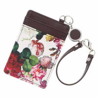 Flower pattern card case - White