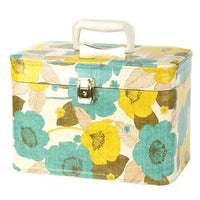 Yellow Flower Print Makeup Cosmetic Case