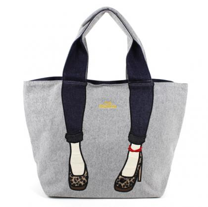mis zapatos skinny pants tote - Gray