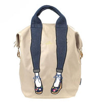 mis zapatos Nylon Skinny 3 Way Backpack - Beige