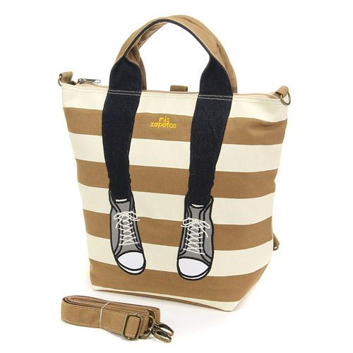 mis zapatos Canvas 3-way tote bag