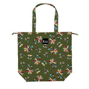 w.p.c Tote / Rain Bag in Moss green Mexican flower