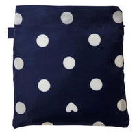 w.p.c Tote / Rain Bag in Navy peace dot