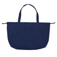 w.p.c Tote / Rain Bag in Pin dot Navy blue