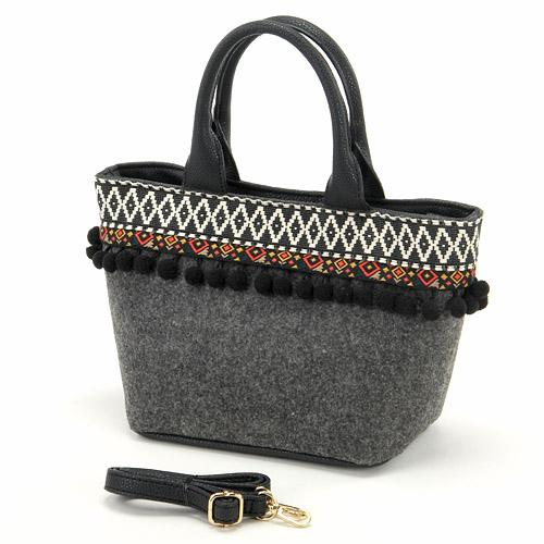 Mini tote bag - Charcoal grey