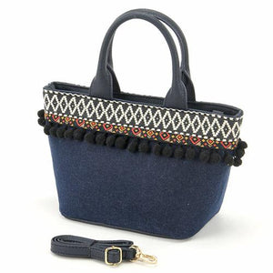 Mini tote bag - Blue