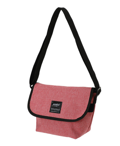 ANELLO Japan Heavyweight polyester canvas mini-mini messenger - Pink