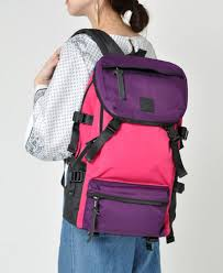 anello ®Japan RETRO OUTDOOR Backpack - Pink x Purple AH-B1901