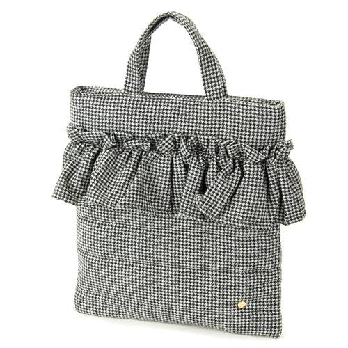 Wool furill vertical tote bag - Thousands bird