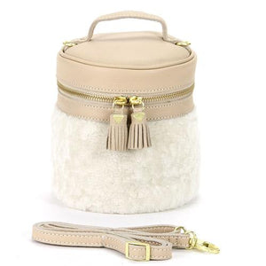 Cylindrical shoulder bag - Off white