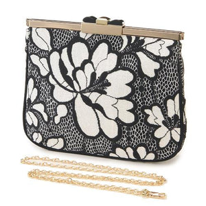 Cross body bag - Black lace