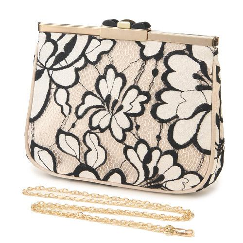Cross body bag - Off white lace