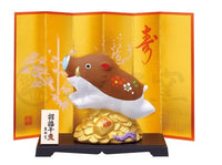 Better Fortune Pig Ornament with Display by Yakushigama