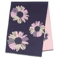 Large size large flower pattern stall - Deep blue