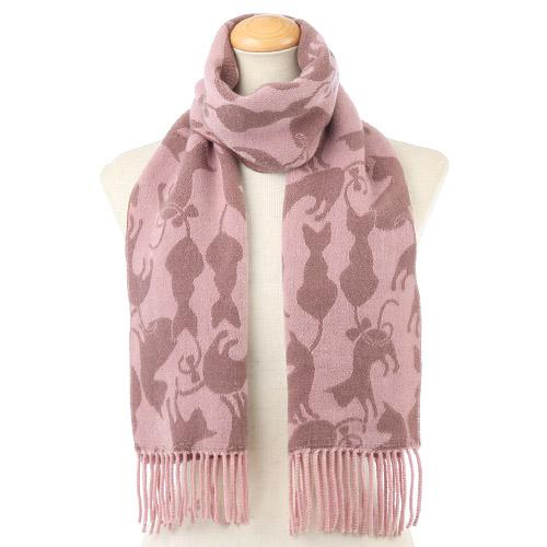 Cat pattern scarf - Pink
