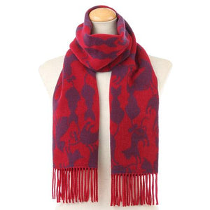 Cat pattern scarf - Red