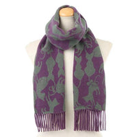 Cat pattern scarf - Lilac