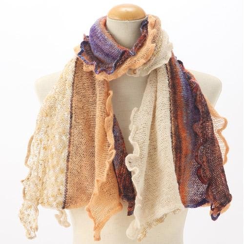 Frilled muffler - Peach