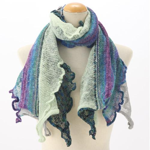 Frilled muffler - Green