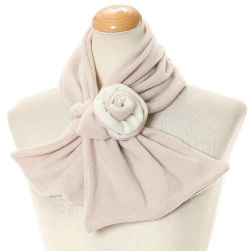 Rose flower neck warmer - Beige