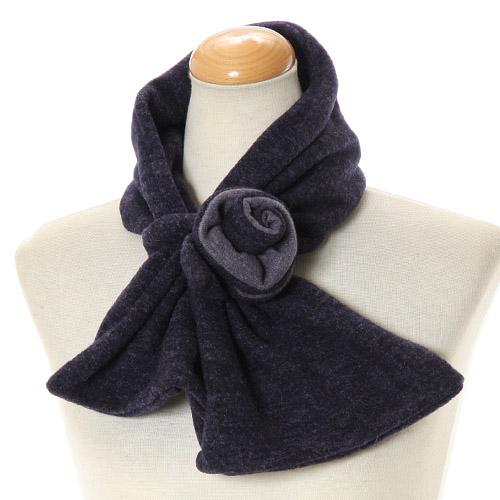 Rose flower neck warmer - Blue