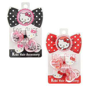 Kids 2 pack Hello Kitty Hair Ties - Pink