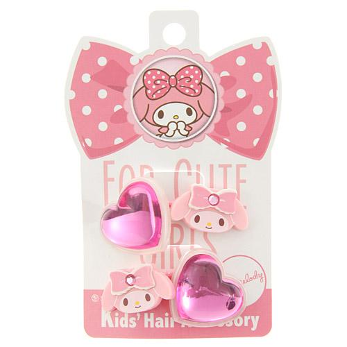 Kids 2 pack My Melody Hair Ties - Pink