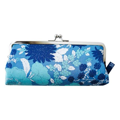 Glasses case - Blue flower