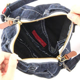 Circle shoulder Denim bag - Dark blue