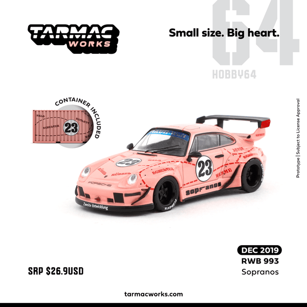 PREORDER Tarmac Works 1/64 RWB 993 Sopranos *Container included*
