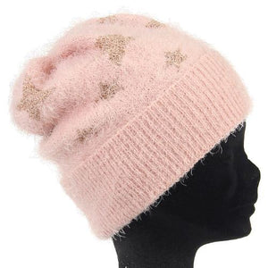 Vincent Pradier Star Pattern Knit Cap - Pink